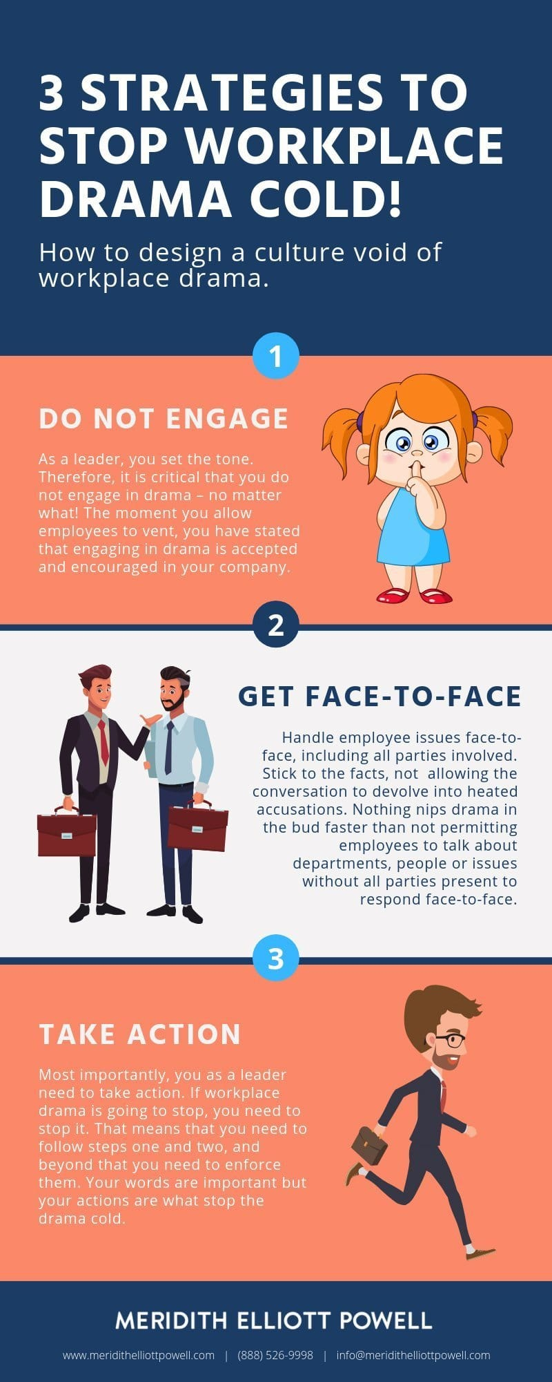 3 Steps To Stop Workplace Drama Cold! | Meridith Elliott Powell