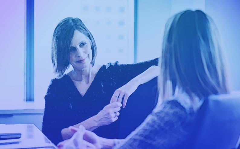 women listening showing empathy